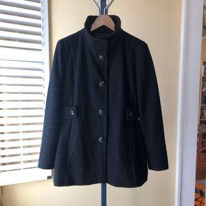 Nine West Black Wool Blend Pea Coat 10